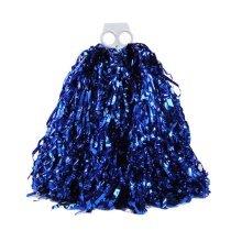 4 Pieces Plastic Ring Cheerleading Pom/Creative School Spirit Party Pom, Blue