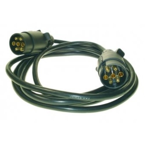 3m 12 N Extension Lead With 2 7-pin Plugs - 12 Maypole 7pi 588 Mp588 -  extension lead 12n maypole 3m plugs 7pin 5882 mp5882