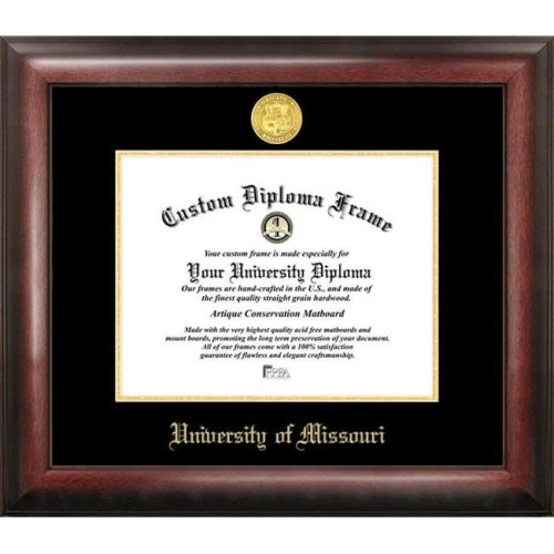 University of Missouri Gold Embossed Diploma Frame