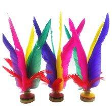 3 Pcs Colorful Feather Kick Shuttlecock Chinese Jianzi Sport