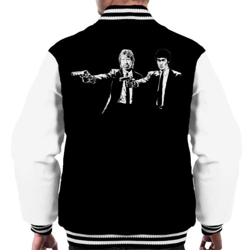 Bruce Lee And Chuck Norris Pulp Fiction Men's Varsity Jacket