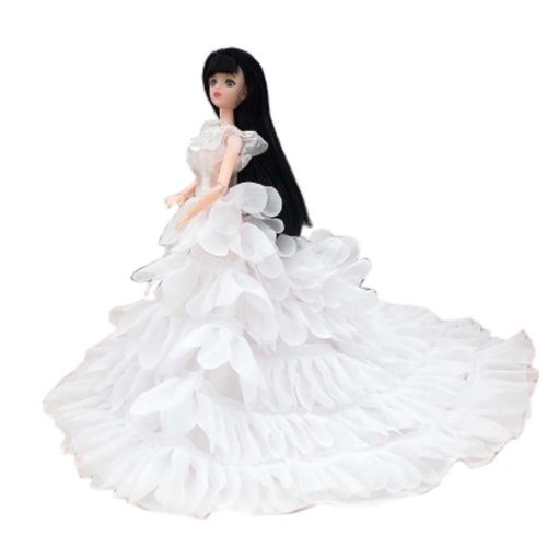 Elegant Dolls Wedding Party Dress Princess Clothes Dolls Outfits for Girl Birthday Gift, A