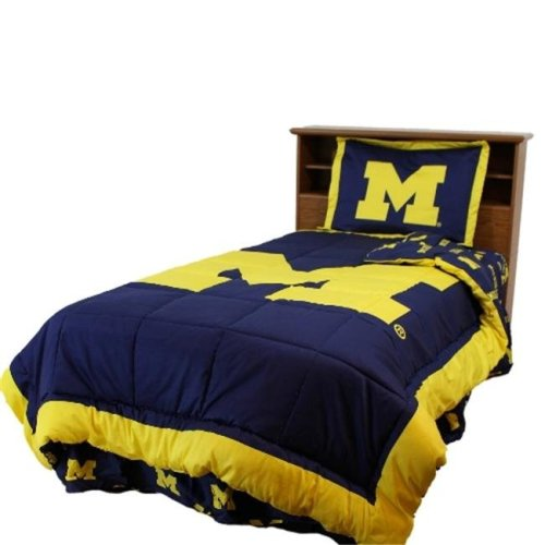 College Covers MICCMKG Michigan Reversible Comforter Set -King