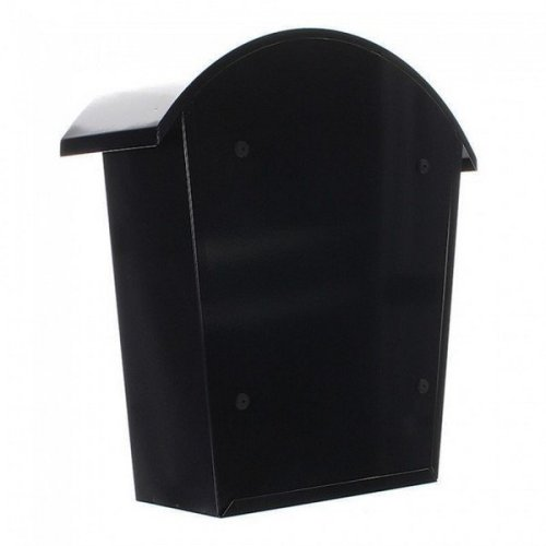 Traditional Post Box Steel Wall Mounted Black Rottner Jesolo