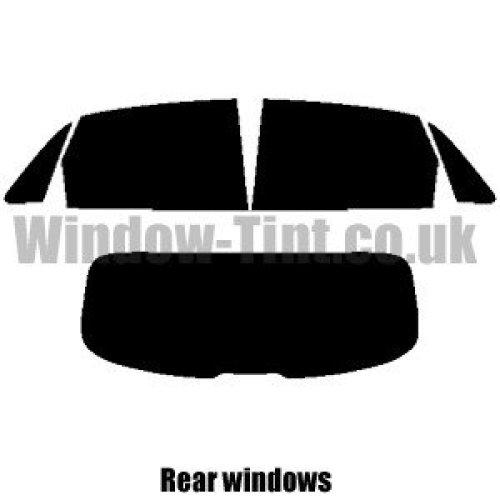 Pre cut window tint - Audi A1 Sportback 5-door - 2012 and newer - Rear windows