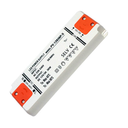 36W Ultra Thin LED Driver AC 230V to DC12V Power Supply Transformer