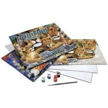 Royal & Langnickel Painting by Numbers Junior Large Art Activity Kit, Pride of Lions