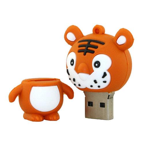 Tiger Animal Shaped Novelty USB Flash Drive Memory Stick (16 Gb)
