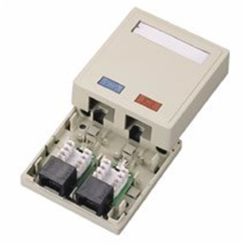 Cables To Go 03836 CAT 5E SURFACE MOUNT BOX 2-PORT IVORY
