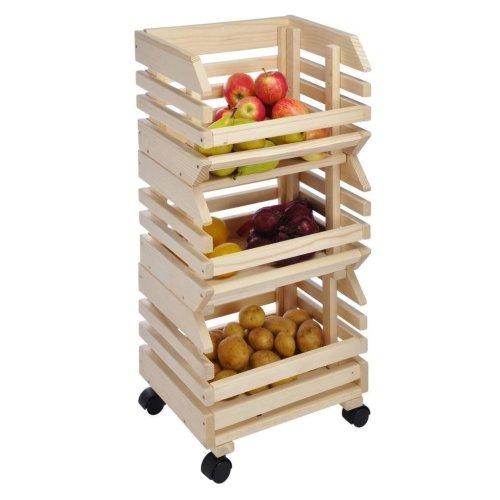 Wooden Kitchen Vegetable Storage Rack