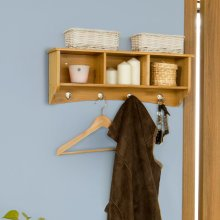 SoBuy FRG48-N Bamboo Wall Display Unit | Coat Rack & Wall Storage