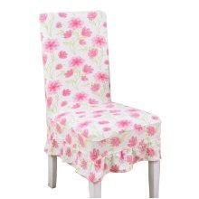 [Flowers-13] Stretch Dining Chair Slipcover Chair Cover Chair Protector