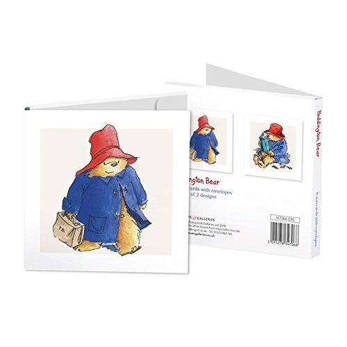 Artistic Blank Notecards - (MG-346878) - Paddington Bear - Pack of 8 - 2 Designs - Suitable for Birthdays and Other Occasions
