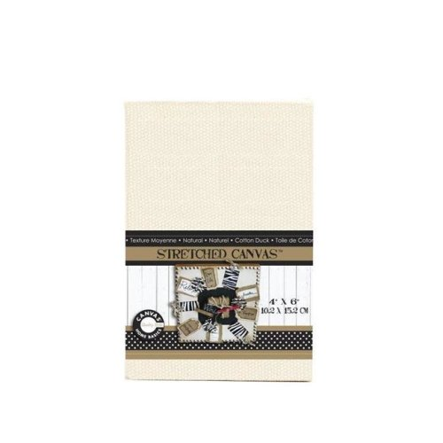 Canvas CVS1132 4 in. Stretched Natural Canvas