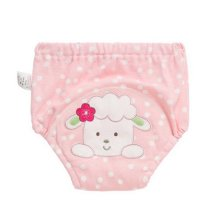 2 PCS PINK Cotton Material Potty Training Pants Baby Diapers Reusable