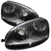 Volkswagen Golf Mk5 2003-2009 Black Inner Headlights Headlamps 1 Pair O/s & N/s