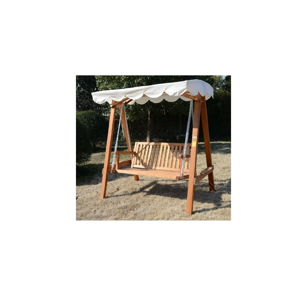 Outsunny 2 Seater Wood Swing Chair 5