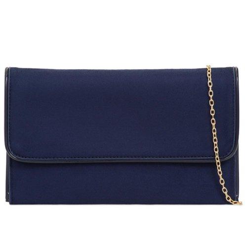 Purple Possum Clutch Bag Navy Blue Evening Bag Large Purse Faux Suede
