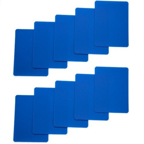 Brybelly Set of 10 Blue Plastic Poker Size Cut Cards