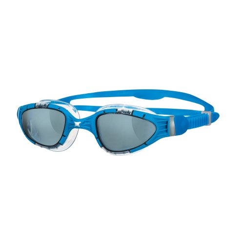 8cbaebcccd5ad7 Zoggs Aqua-Flex Anti-Fog Swim Goggles, 180 Degree Vision - Blue/Silver on  OnBuy