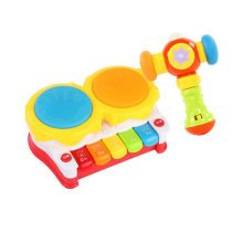 Musical Electric Baby Toys Hand Drum Instrument Percussion Set for Children, Story Drum@Music Hammer