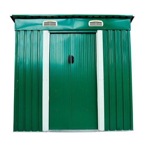 Outsunny 4 X 6 Ft Metal Garden Shed Gardening Tool Storage W/ Ventilation