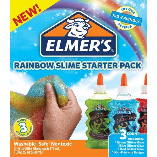 Elmer's Rainbow Glitter Glue 3/Pkg-
