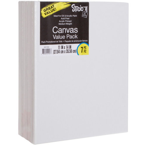 "Studio 71 Stretched Canvas Value Pack 7/Pkg-11""X14"""