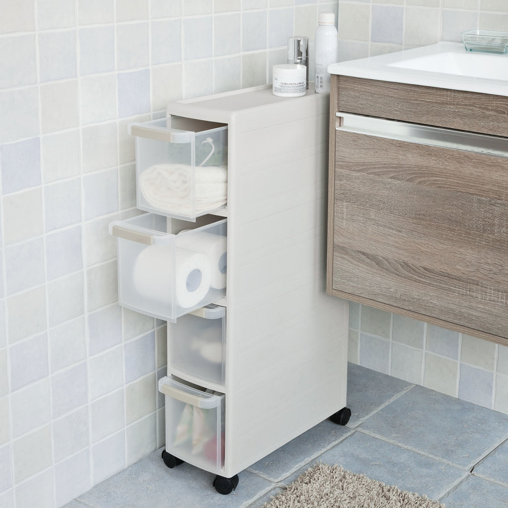 SoBuy® FRG41-HG, 4 Drawers Plastic Storage Drawer Unit on
