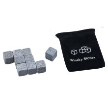 Trixes 9 Piece Granite Whiskey Dry Ice Cube Stones