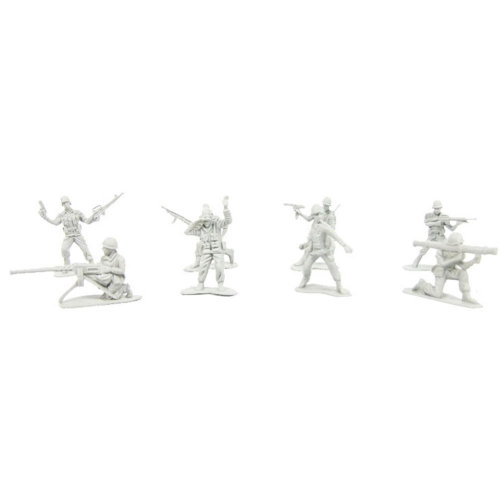 100 Pcs Toy Soldiers Gifts /Cars/Trucks /Tractors/Toy Guns Models -Gray  1:60