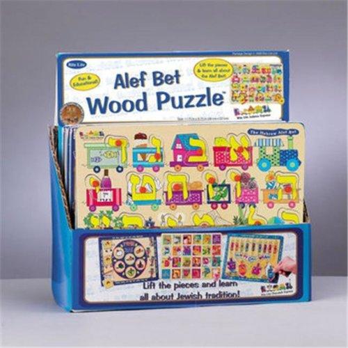 Rite Lite TY-PUZ-ALEF 22 Piece Wood Alef-Bet Puzzle - Pack Of 6
