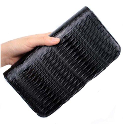 Hair Scissors Bag Hair Durable Feather Pattern Bag Hair Stylist Hand Bag, Black