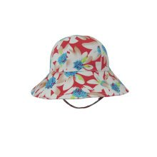 Baby Girls' Floppy Brim Sun Protection Hat Satin drill bucket hats Red