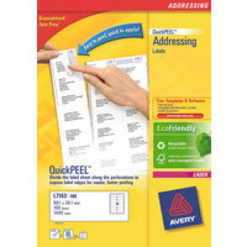 Avery L7163-100 White addressing label