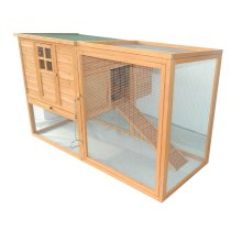 PawHut Wooden Chicken Coop Waterproof Roof Poultry Hutch Hen Nest Box