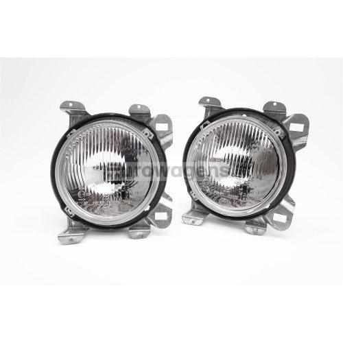 Headlights set with bezel clear Hella VW Transporter T3 T25 79-92