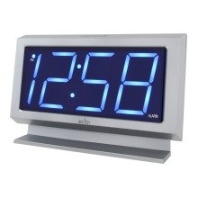Acctim 14217 Labatt LED Silver Alarm Clock