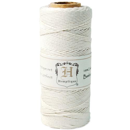 Bamboo Cord Spool 20lb 205'-White