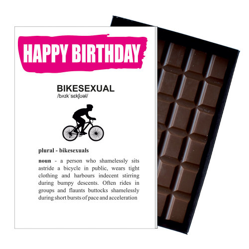 Funny Birthday Gift For Cyclist Mountain Bike Rider Rude Present Chocolate Card