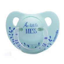Free Nighttime Infant Pacifier, 0-6 Months?A Little Mess ,Blue