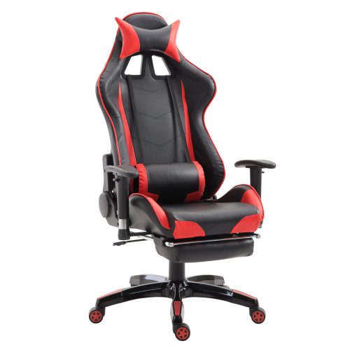 HOMCOM Gaming Executive Office Chair, PU Leather-Red