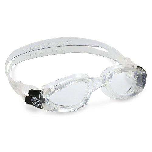 Aqua Sphere Unisex Adult Kaiman Men's and Women's Swimming Goggles, Clear (Clear Lens), Regular