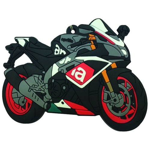 Aprilia RSV4 rubber key ring motorbike gift keyring chain mille RSV4R
