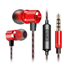 Wired Metal In Ear Headphones Earbuds Noise Isolating Headset #01