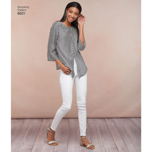 Simplicity Misses' Pullover Tops-14-16-18-20-22