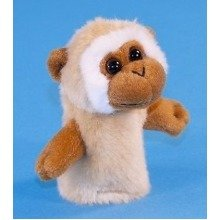 Dowman Tan Gibbon Finger Puppet Soft Toy