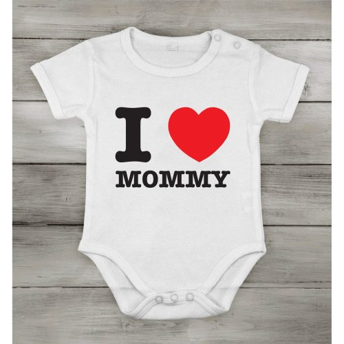 I love Mommy best Mom Funny Cute Baby Newborn short Cotton cothing