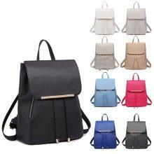 Buy 1 Get 1 at 20% Off KONO Women PU Leather Backpack Girls School Bag