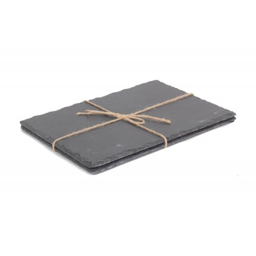 Drinks Large Rectangular Slate Place Mat Set 2